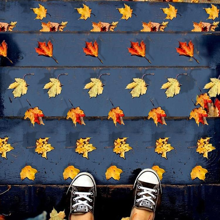 Stereogram by 3Dimka: @eve_ma_. Tags: leaves leaf autumn fall stairs staircase, hidden 3D picture (SIRDS)