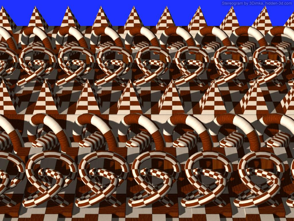 Stereogram by 3Dimka: Abstract cross-eyed #1. Tags: shapes, crosseyed, hidden 3D picture (SIRDS)
