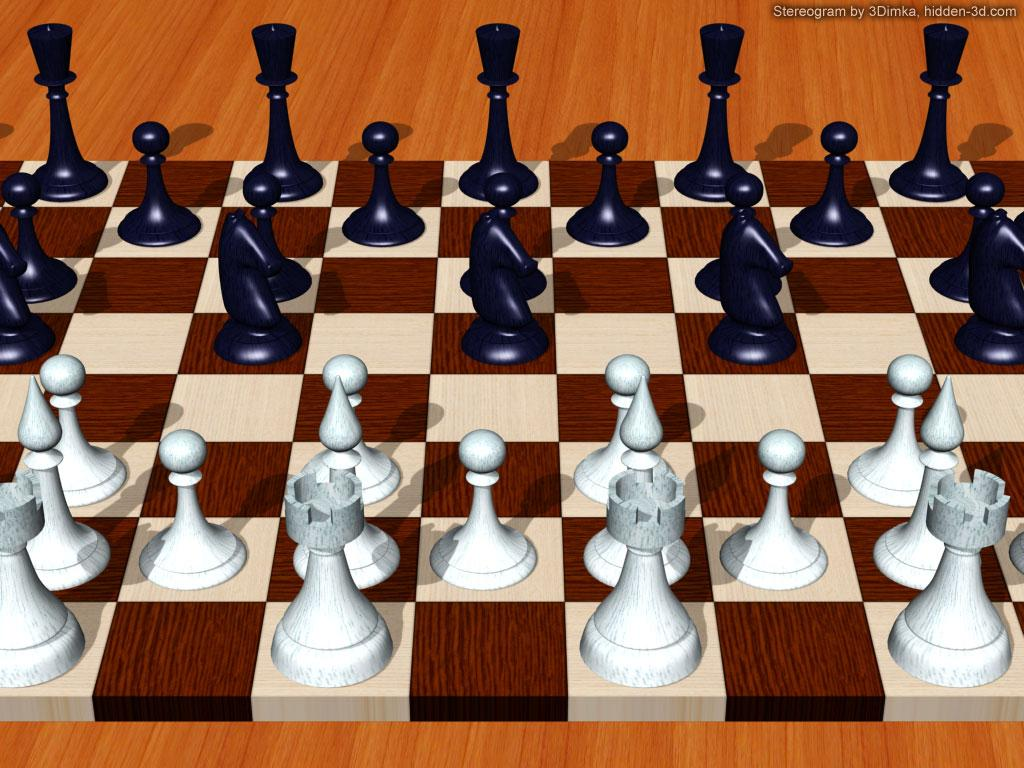 Stereogram by 3Dimka: Chess (Cross-eyed). Tags: chess, crosseyed, pawn, board, hidden 3D picture (SIRDS)