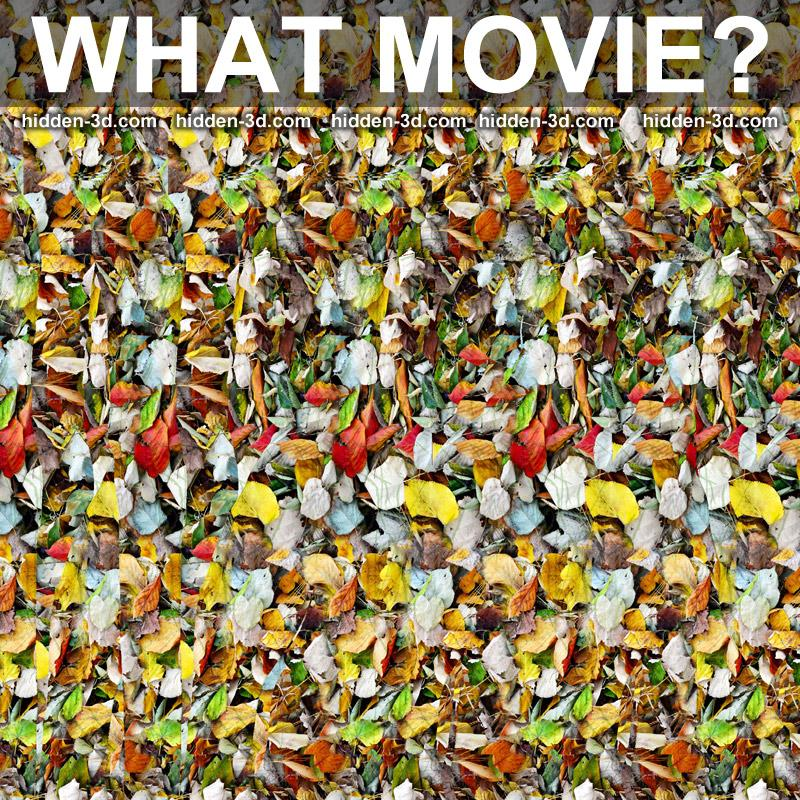 Stereogram by 3Dimka: Guess the movie (cross view). Tags: puzzle, hidden 3D picture (SIRDS)