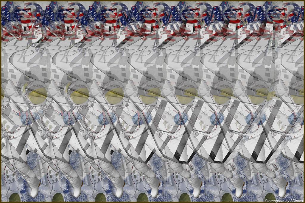 Stereogram by : STS 116. Tags: shuttle, space, ausronaut, cosmos, earth, nasa, hidden 3D picture (SIRDS)