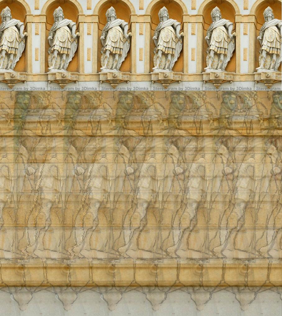 Stereogram by 3Dimka: Photo Sculpture. Tags: sculpture, architecture, hidden 3D picture (SIRDS)