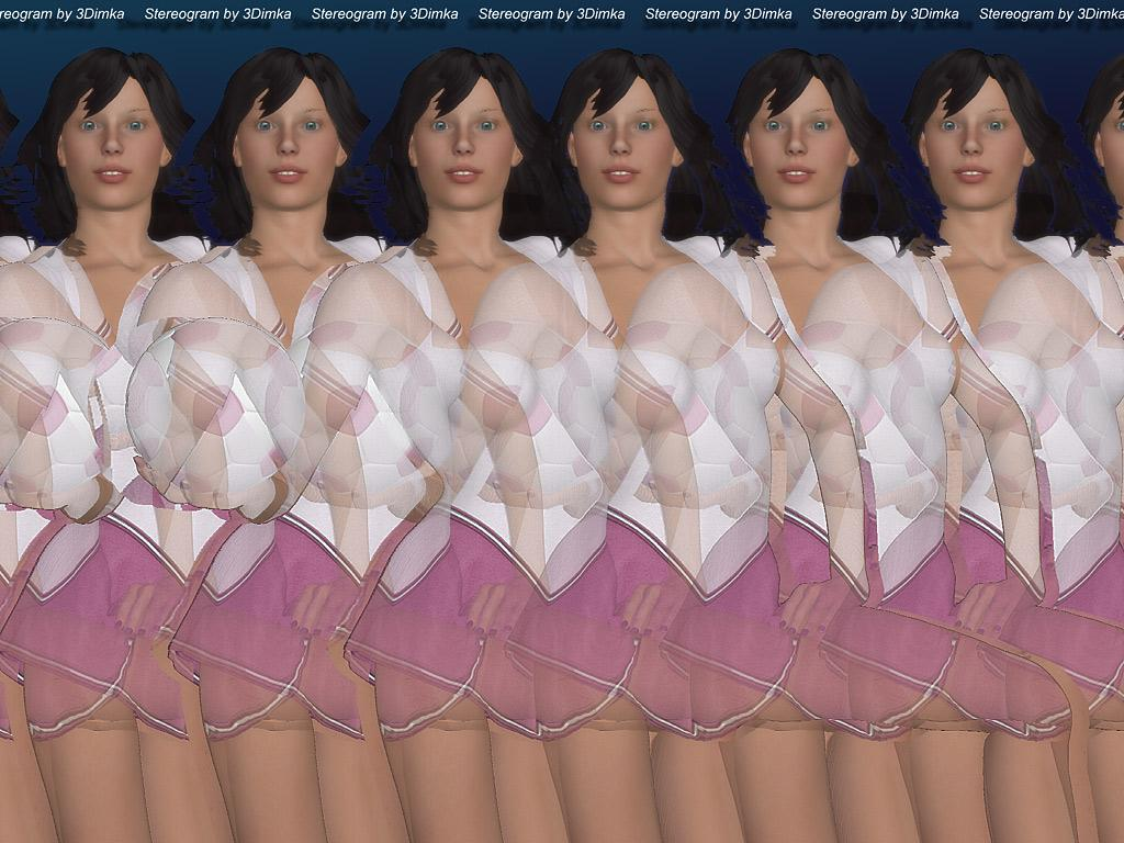 Stereogram by 3Dimka: Soccer Girl. Tags: soccer, football, girl, woman, sport, hidden 3D picture (SIRDS)