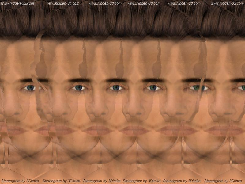 Stereogram by 3Dimka: James. Tags: man,portrait,face, hidden 3D picture (SIRDS)