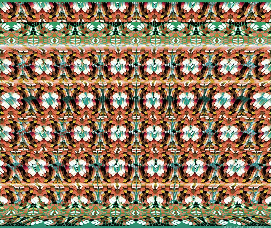 Stereogram by Gene Levine: Deco Balconies. Tags: , hidden 3D picture (SIRDS)