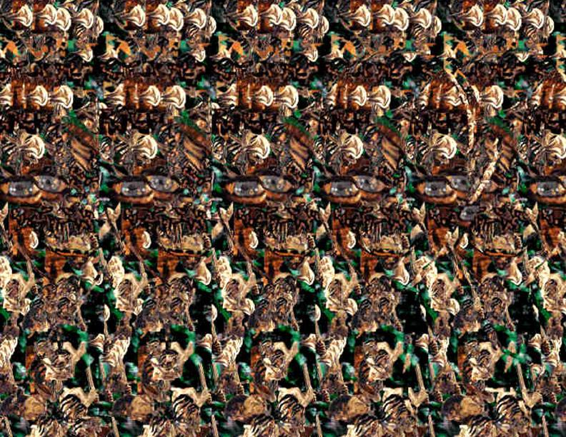 Stereogram by Carlos Contreras: Gorlum. Tags: , hidden 3D picture (SIRDS)