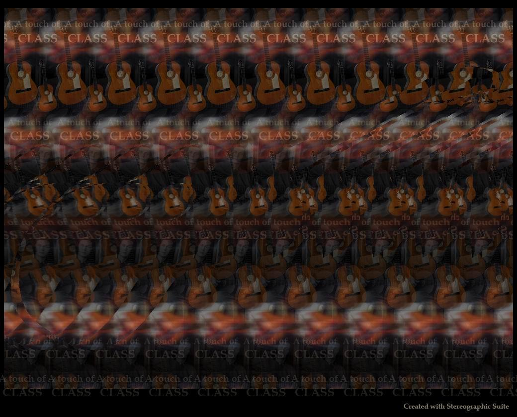 Stereogram by Indasoftware: Guitar. Tags: music, hidden 3D picture (SIRDS)
