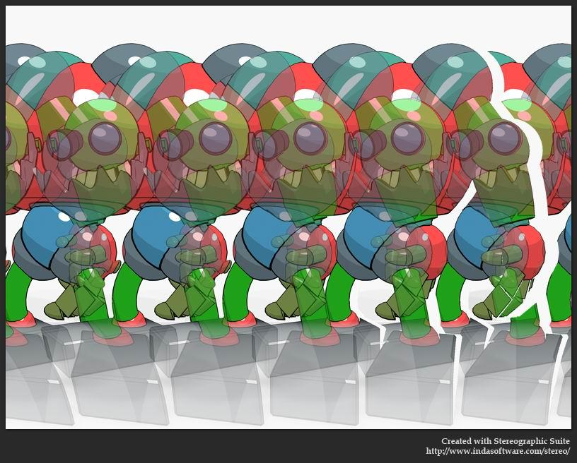 Stereogram by Indasoftware: Robot. Tags: , hidden 3D picture (SIRDS)