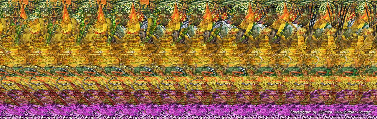 Stereogram by 3Dimka: Ganesh, fragment 2. Tags: india, elephant, godness, religion, hidden 3D picture (SIRDS)