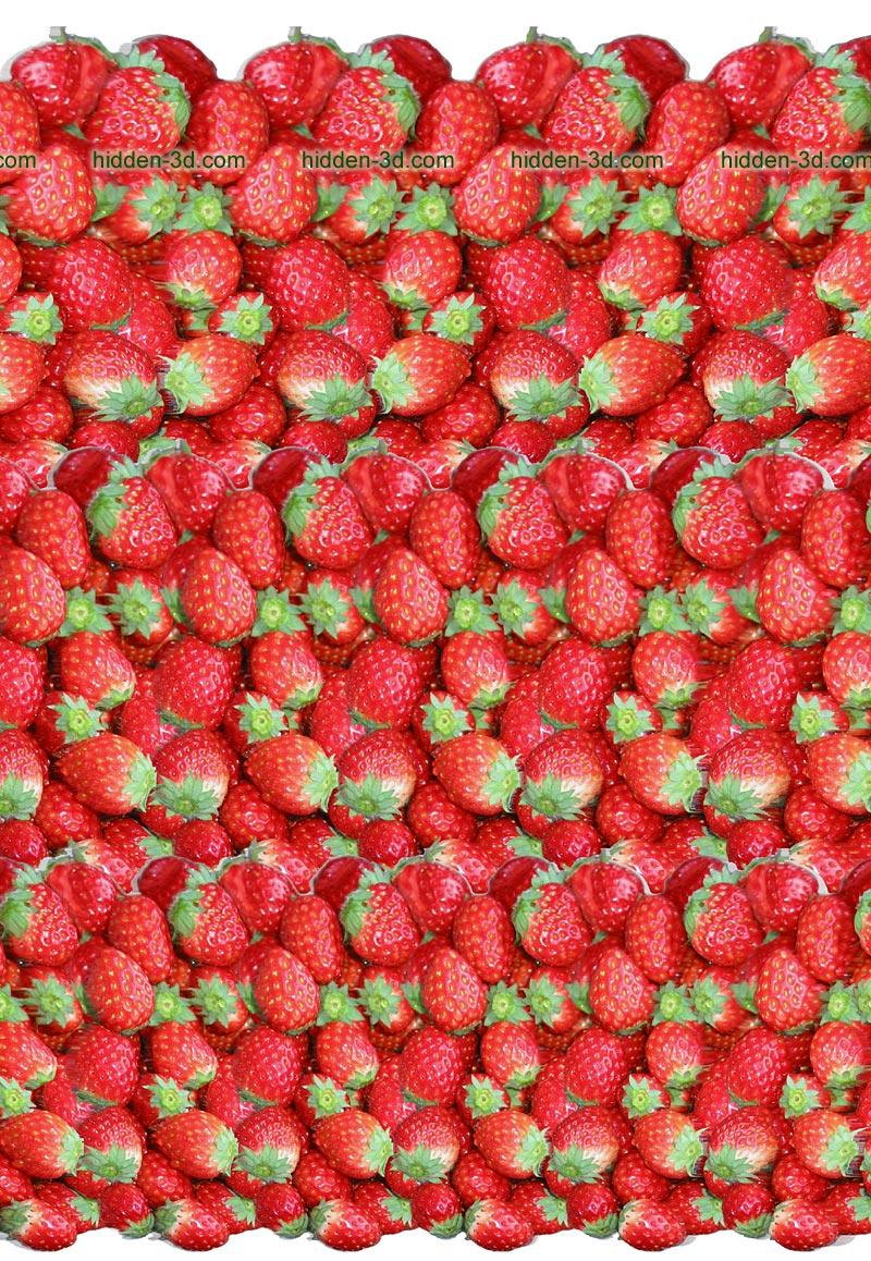 Stereogram by 3Dimka: Lots of Strawberry. Tags: strawberry, hidden 3D picture (SIRDS)