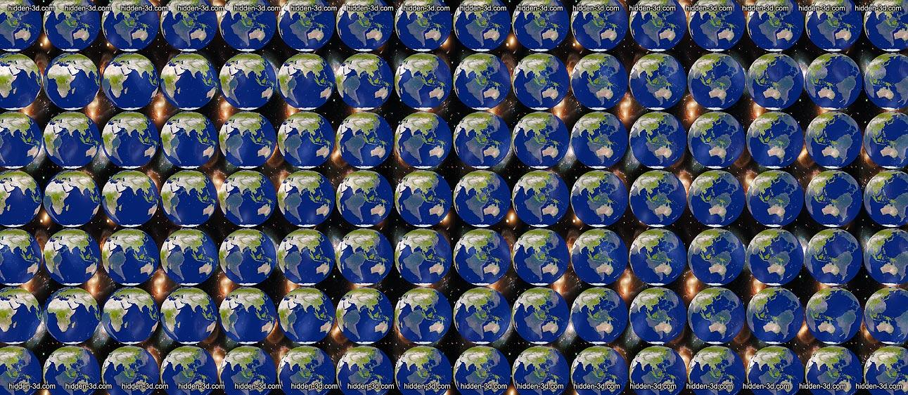 Stereogram by 3Dimka: Segment Stereogram. Tags: stained glass bunny bear teddy, hidden 3D picture (SIRDS)