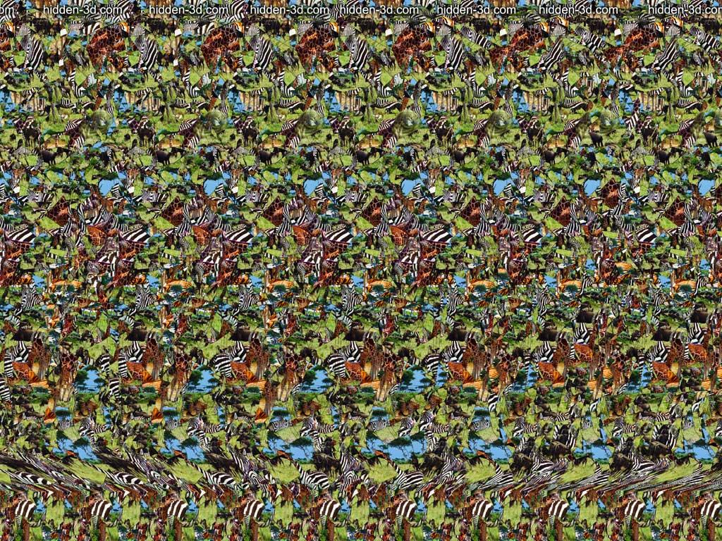 Stereogram by 3Dimka: Big Ears. Tags: elephant, hidden 3D picture (SIRDS)