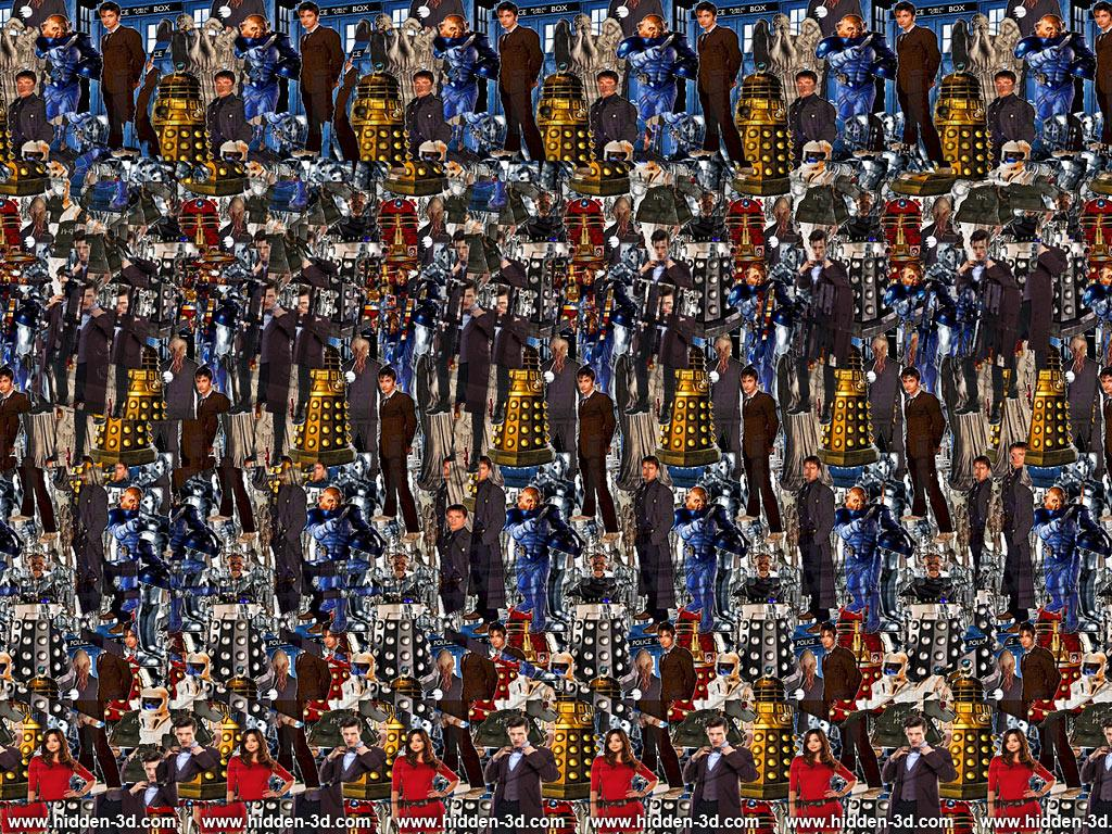 Stereogram by 3Dimka: The Time War. Tags: doctor who, dalek, tardis, movie, hidden 3D picture (SIRDS)