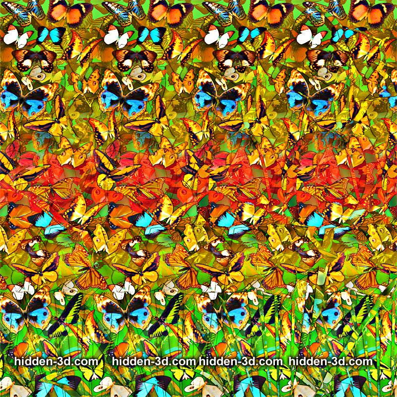 Stereogram by 3Dimka: Pollen factory. Tags: flowers tulip spring, hidden 3D picture (SIRDS)