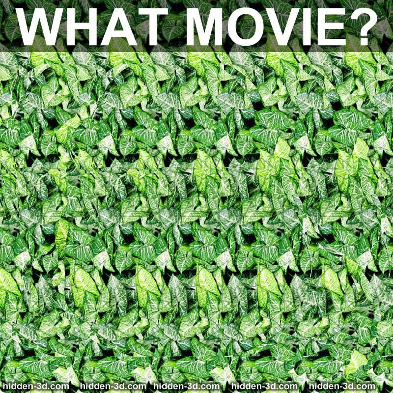 Stereogram by 3Dimka: Guess the movie. Tags: puzzle movie trivia, hidden 3D picture (SIRDS)